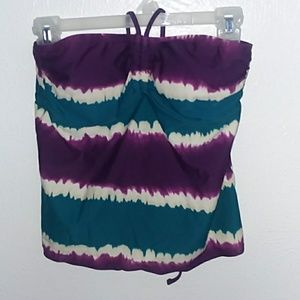 Tankini Top: purple, teal, and white Merona top